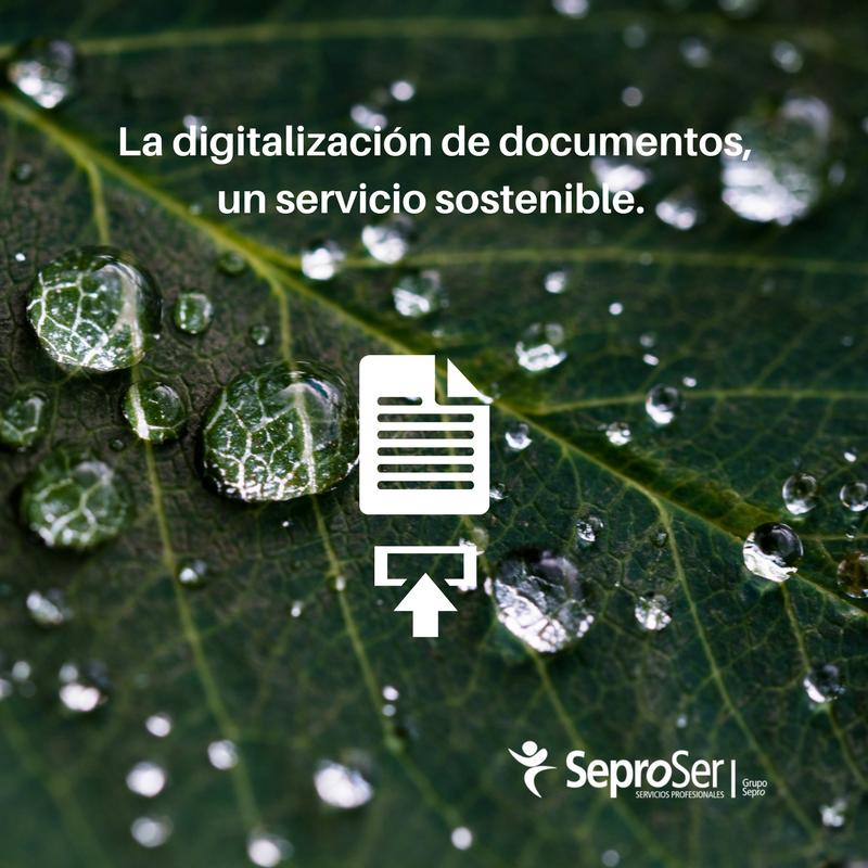 La digitalización de documentos, un servicio sostenible.